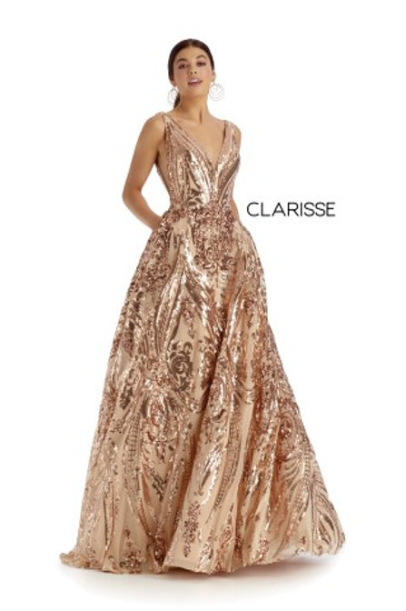 Clarisse A-line formal dress style 5105 with pockets