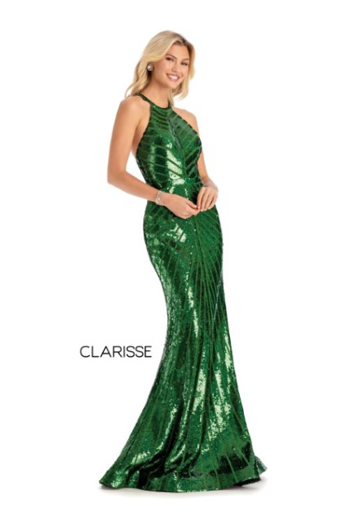 Clarisse sequin form fitting dress style 8004