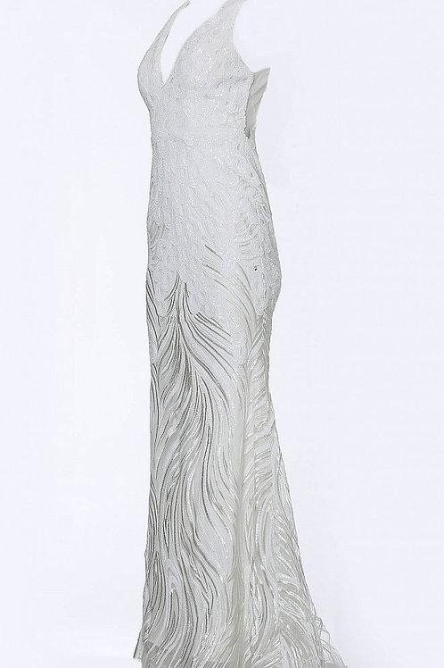 JVN by Jovani JVN66261 Black Embellished Open Back Sleeveless Prom Dress