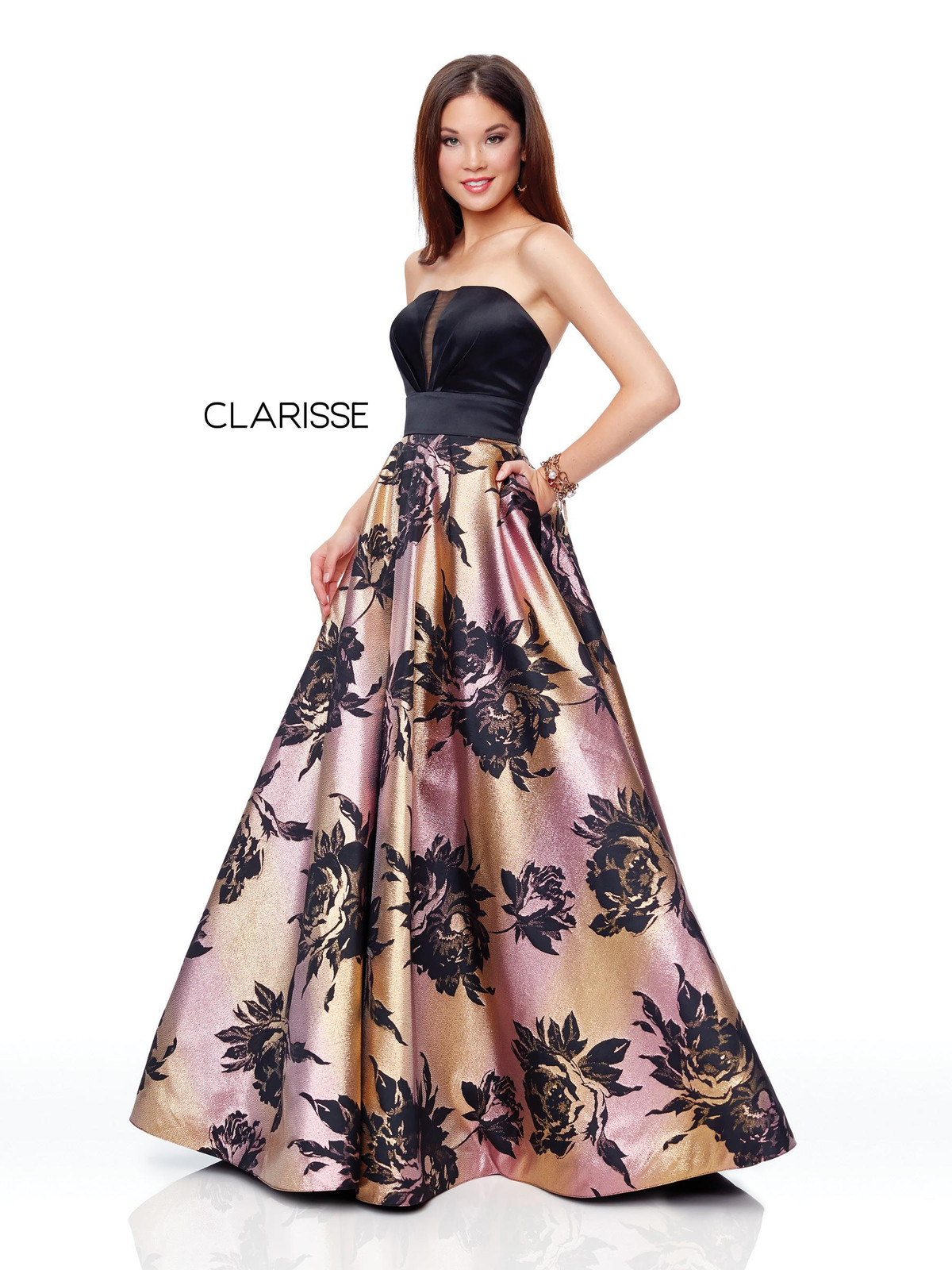 07ddf49d07 Clarisse Long Satin Prom Dress With Pockets - Gomes Weine AG