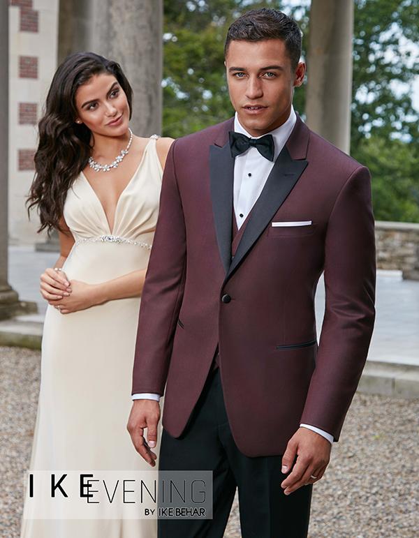 Wine tuxedo jacket