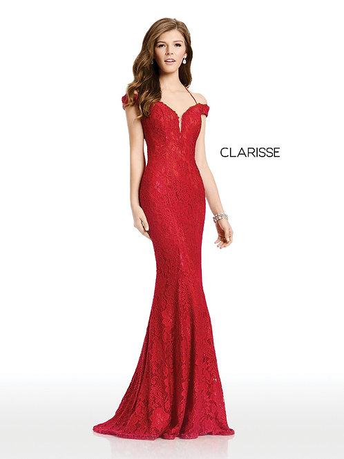 Clarisse Mermaid jersey fitted dress style 4801