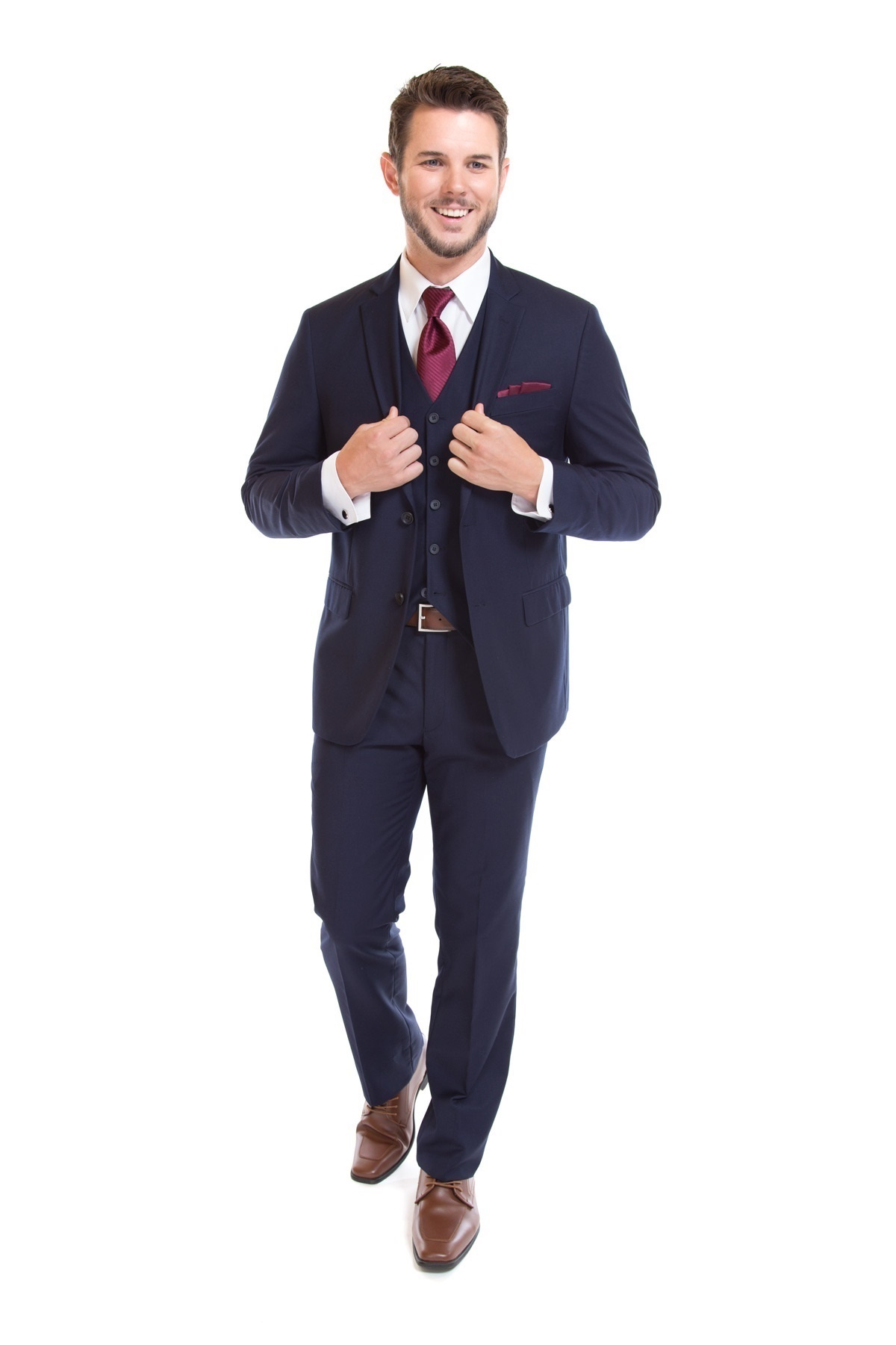fiorelli ultra slim fit suit navy