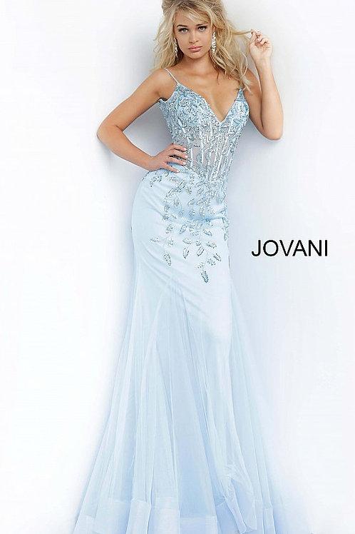 Jovani 63704 V Neck Mermaid Dress
