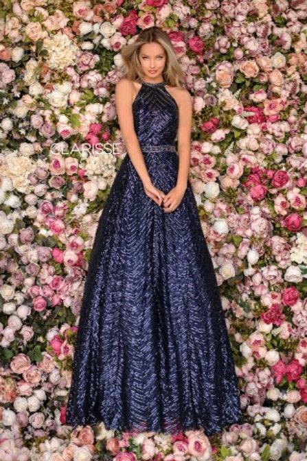 Clarisse navy sequin ballgown style 5112
