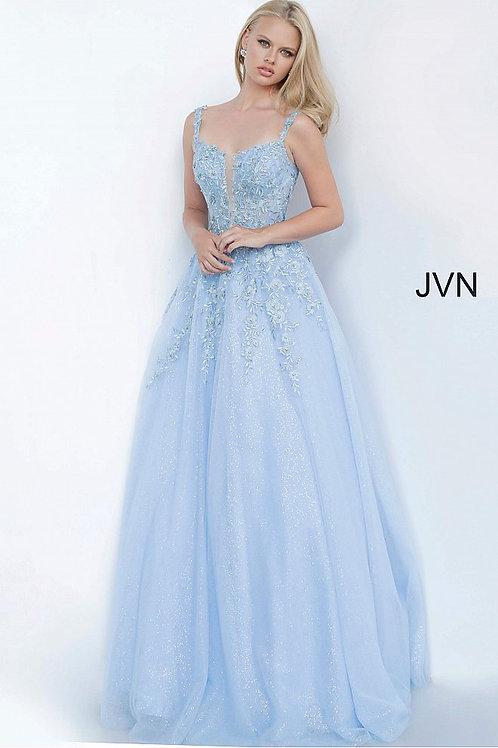JVN by Jovani JVN4271 Floral Embroidered Prom Ballgown