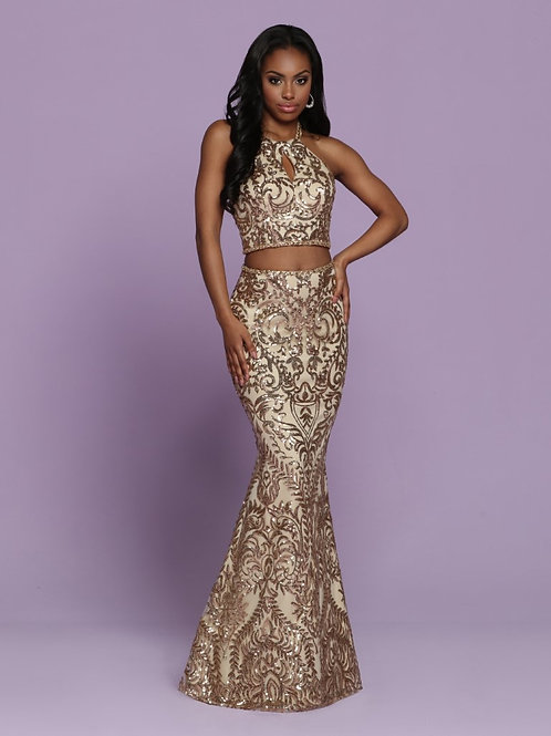 Sparkle Prom fitted two piece dress style 72045
