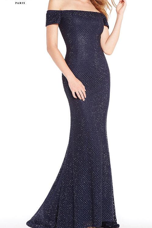 Alyce Paris long off the shoulder dress style 60157
