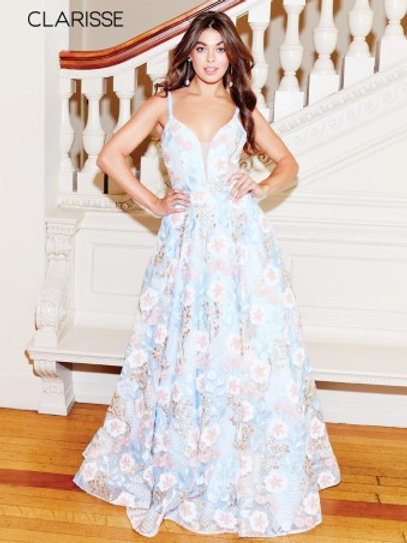 Clarisse floral ballgown 3700
