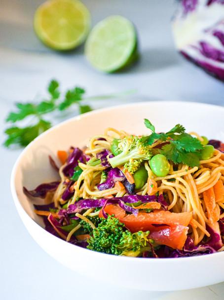 Red Curry Peanut Noodle Salad
