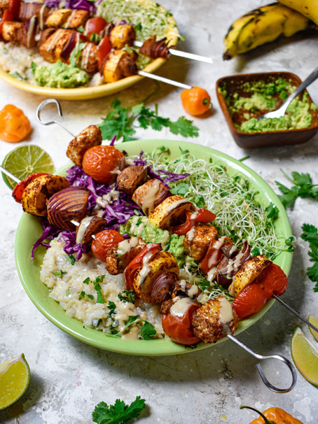 Sweet and Spicy Tempeh Kabobs