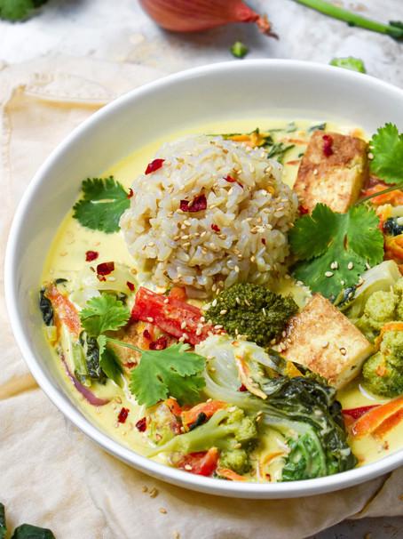 Green Curry With Crispy Tofu