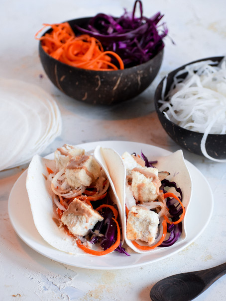 Crispy Thai Tofu Tacos