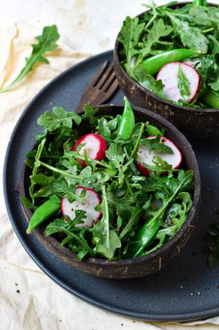 Arugula Snap Pea Side Salad