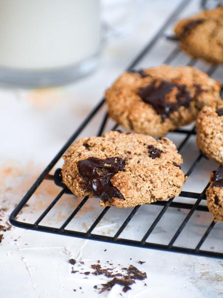 GF Vegan Chocolate Chip Cookies