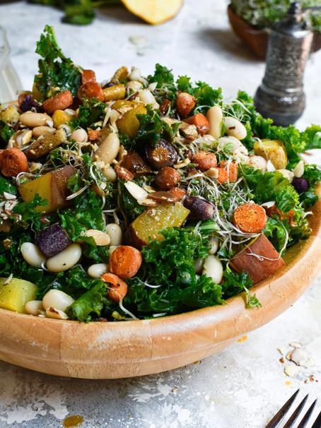 Rainbow Root Salad