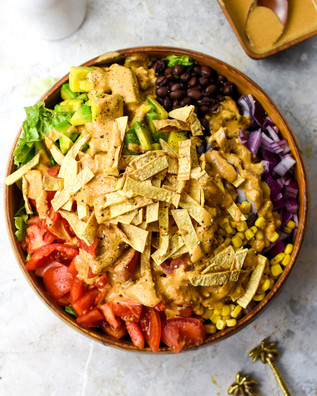 Taco Salad with Chipotle Ranch Dressing