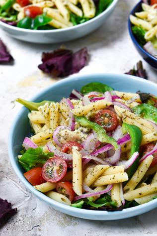 Simple Pasta Salad With Vegan Mozzarella