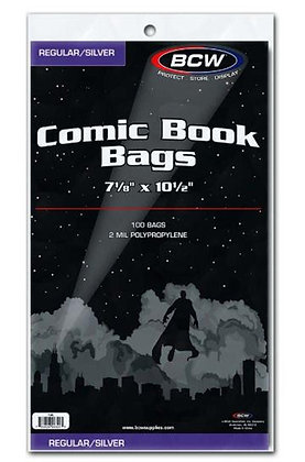 Comic Bags 100 pack - Silver Age BCW