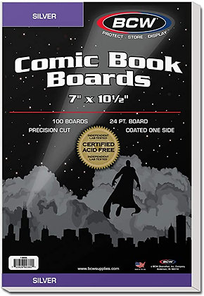 Comic Backing Boards 100 pack - Silver Age BCW