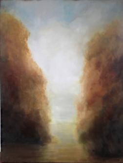 Romance_fog, 30x48, oil on canvas