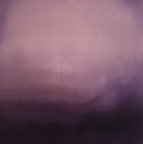 Purple sea 2, 12x12, oil on board