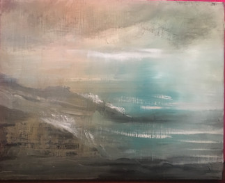 seascape, untitled, 24x30, oil on canvas