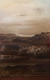 unknown land, sepia series, 24x36