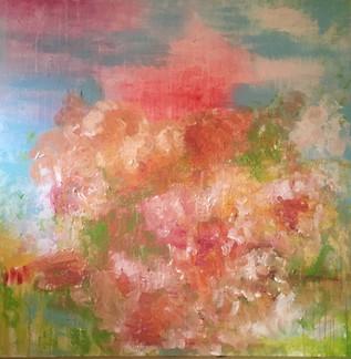 summer heat, oil on canvas, 36x36