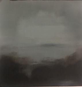 Blue pages 6, 12x12, oil on cavas