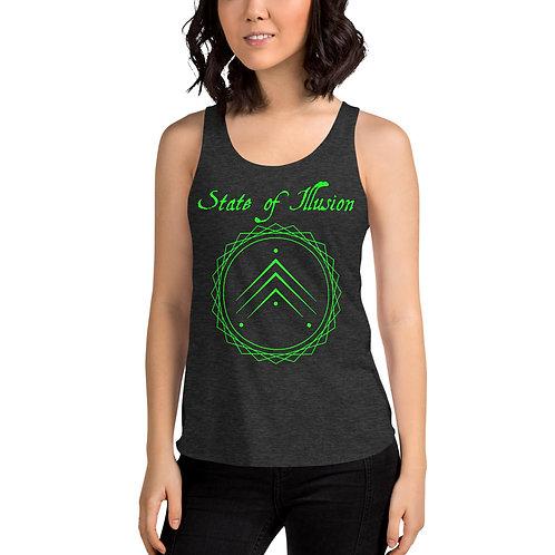 Women's Green Logo Racerback Tank
