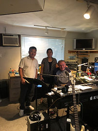JIM, ENA AND DAVE AT THE  STUDIO.jpg