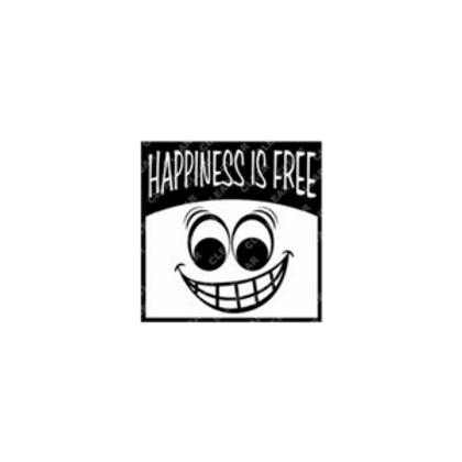 Happiness Is Free Grin Bumper Sticker