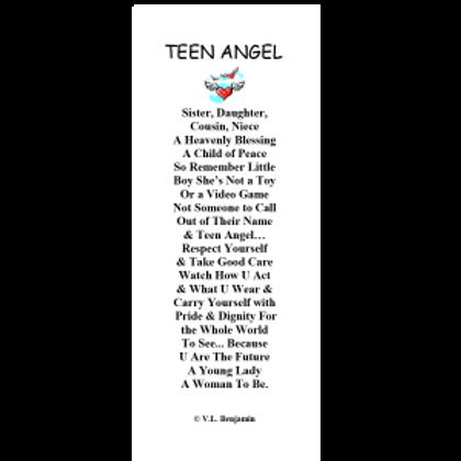 Teen Angel Bookmark