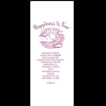 Happiness is free sunbeam bookmark