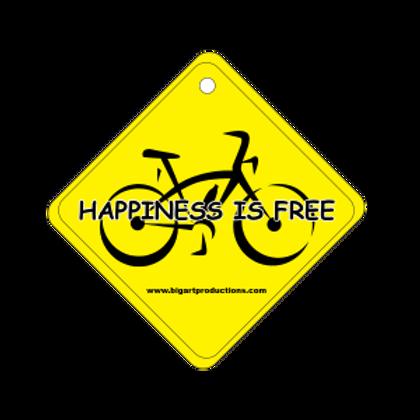 Happiness is Free Bike Air Freshener