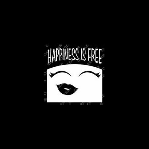 Happiness Is Free Diva Bumper Sticker