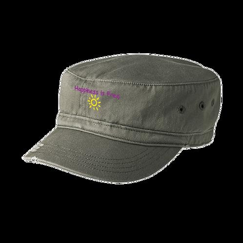 Khaki Happiness is Free Sunbeam Military Hat
