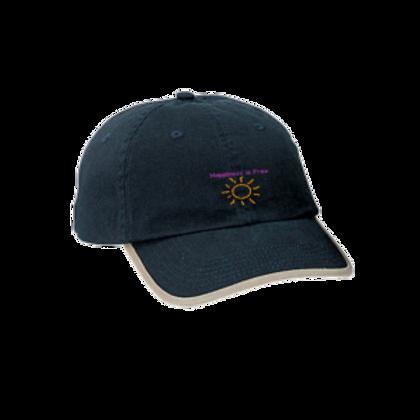 Black/Khaki Trim Happiness is Free Sunbeam Cap