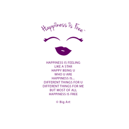 Happiness is Free Diva Bookmark