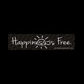 happiness_is_free_bumper_sticker-300x300