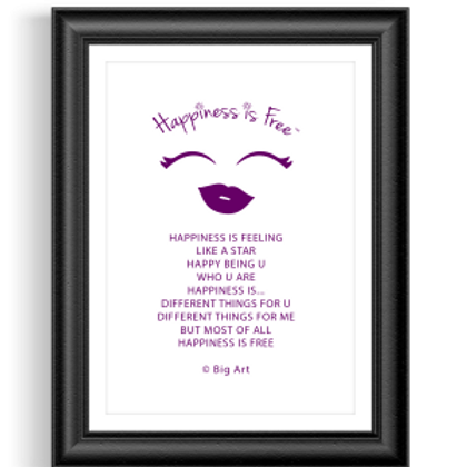 Happiness is Free Diva Poster