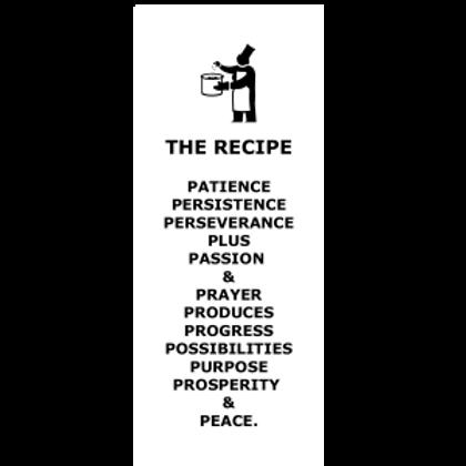 The Recipe for Peace Bookmark