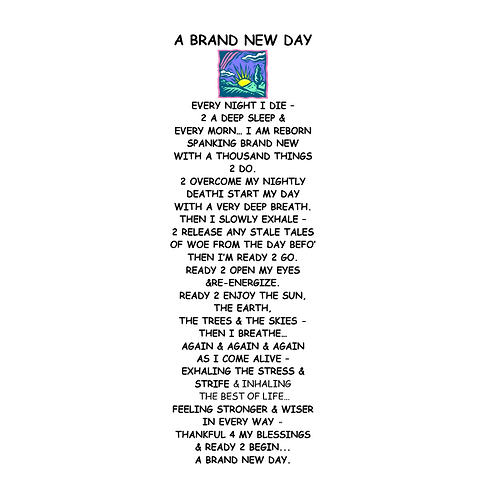 A Brand New Day Bookmark