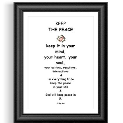 Keep the Peace Poster