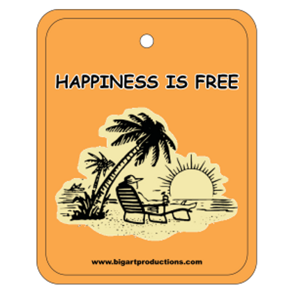 Happiness is Free Sunset Air Freshener