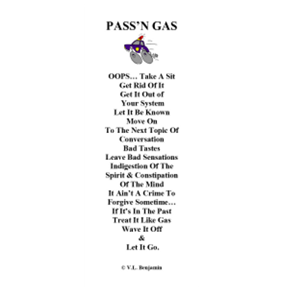 """Pass""""n Gas Bookmark"""