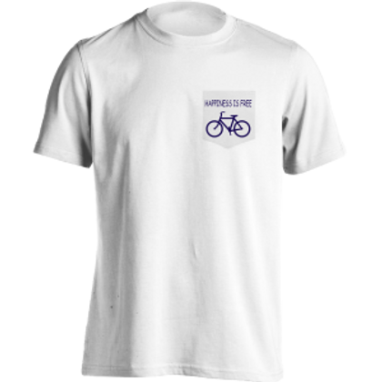 Happiness is Free Bike Pocket Shirt