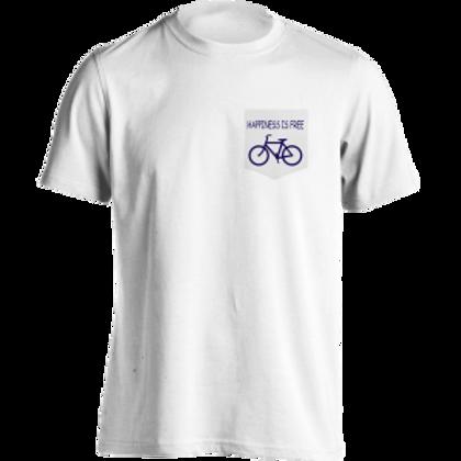 Happiness is Free Bike Pocket Shirt