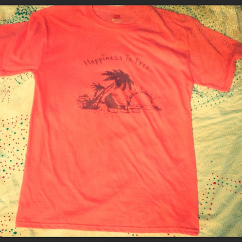 Happiness Is Free Sunset Shirt